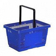 Корзина покупательская для магазина самообслуживания пластик 27 литров арт. KPP27-K