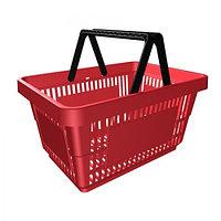 Корзина покупательская для магазина самообслуживания пластик 27 литров арт. KPP27.1-K