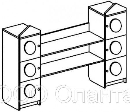Стеллаж для игрушек СВЕТОФОР (1400х400х1300 мм) арт. ССВ2