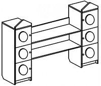 Стеллаж для игрушек СВЕТОФОР (1400х400х1300 мм) арт. ССВ2, фото 1