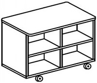 Тумба универсальная для детского сада (740х360х577) арт. ТМ21, фото 1