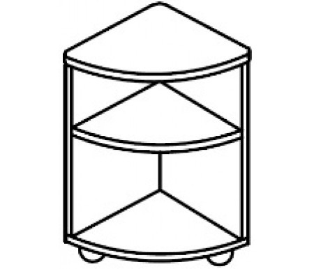 Тумба угловая мобильная (400х400х620)