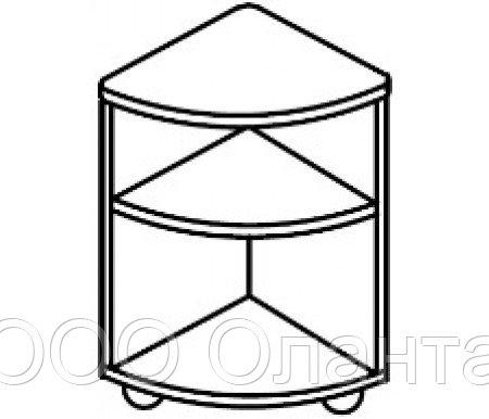 Тумба угловая универсальная для детского сада (400х400х620) арт. ТМ23