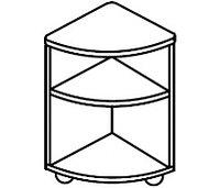 Тумба угловая универсальная для детского сада (400х400х620) арт. ТМ23, фото 1