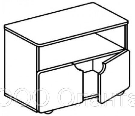 Тумба-стол универсальный для детского сада (800х400х620) арт. СТМ11