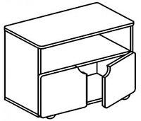 Тумба-стол универсальный для детского сада (800х400х620) арт. СТМ11, фото 1