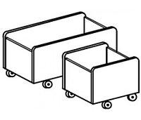 Ящик для игрушек мобильный (748х380х380), фото 1