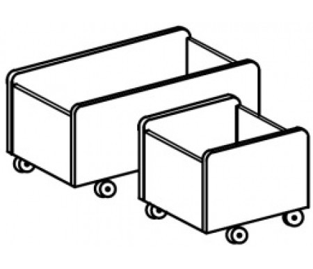Ящик для игрушек мобильный (748х380х380)