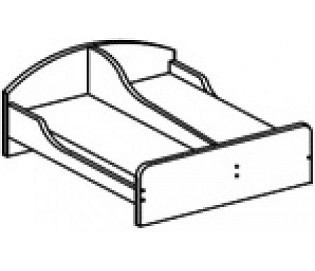 Кровать детская двухсторонняя с бортами (1400х1248х510)