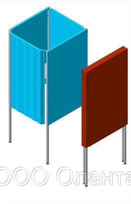 Кабина для тайного голосования односекционная для инвалидов с чехлом