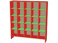 Шкаф для горшков 25 ячеек (1296х320х1226) с покрытием, фото 1
