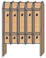 Вешалка на 20 крючков для полотенец для детского сада (750х300х950) напольная двухсторонняя арт. ВП2