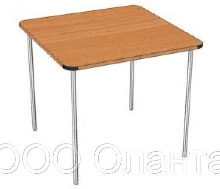 Стол обеденный для детского сада (900х900) группа роста №00-3 с покрытием