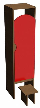 Шкаф для одежды (332х330х1400) с табуретом