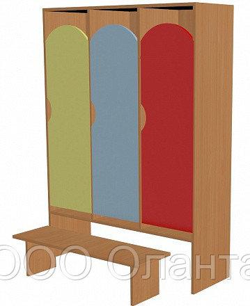 Шкаф для одежды трехсекционный (964х330х1400) со скамьей