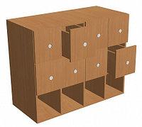 Шкаф формулярный библиотечный 8 ящиков (1000х450х800 мм) ЛДСП арт. ШФБ3