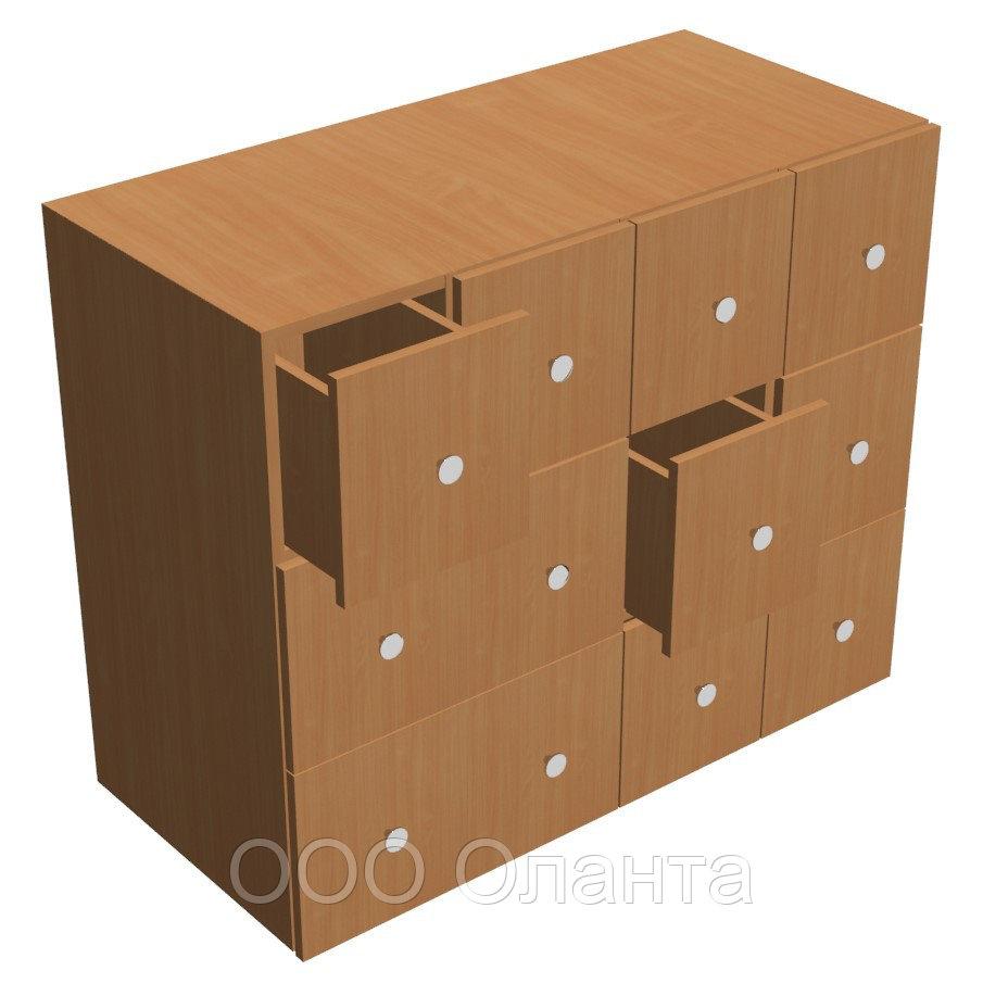 Шкаф для формуляров библиотечный (1000х450х800)