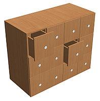 Шкаф формулярный библиотечный 12 ящиков (1000х450х800 мм) ЛДСП арт. ШФБ4