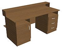 Стол кафедра выдачи книг библиотечный (1600х650х966 мм) ЛДСП арт. СКБ3