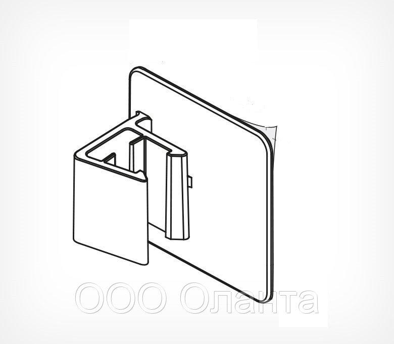 Держатель для крепления рамки параллельно поверхности на клейком основании