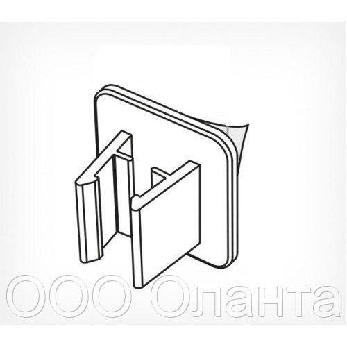 Держатель для крепления рамки перпендикулярно поверхности на клейком основании