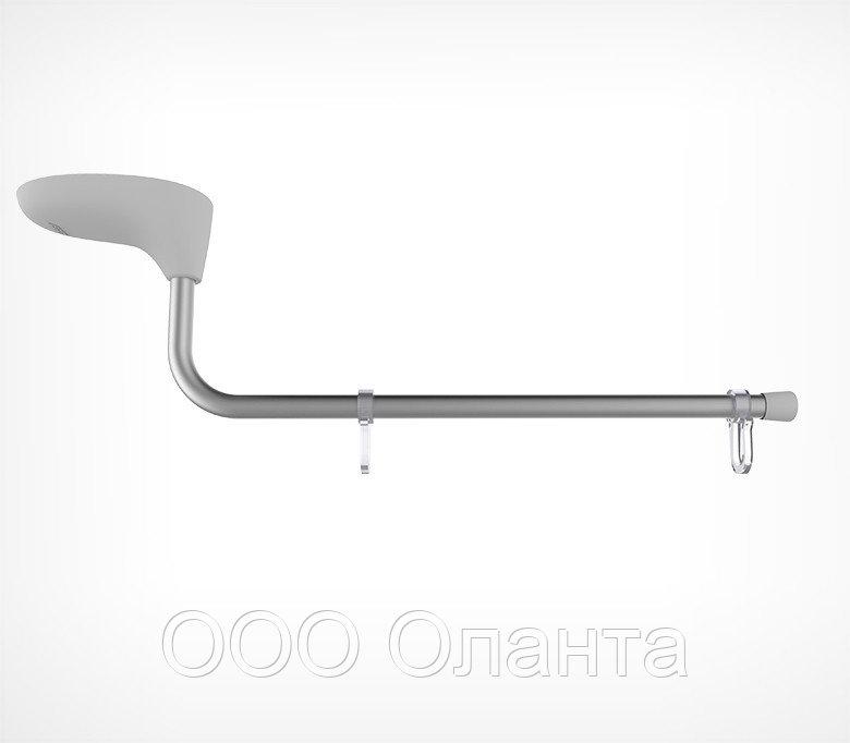 Магнитный держатель вывески на крючках с изогнутой трубкой (L=250 мм) MAG-TUBE-L арт.800001