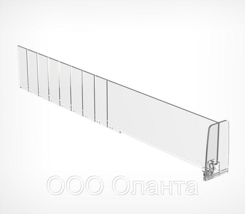Пластиковый обламывающийся разделитель с передним ограничителем (L=285-485 мм/H=60 мм) DIV60-ВT60 арт.770060