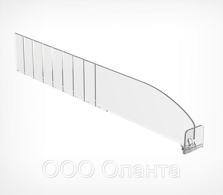 Пластиковый обламывающийся разделитель с передним ограничителем (L=185-385 мм/H=60 мм) DIV60-ВТ30 арт.770060