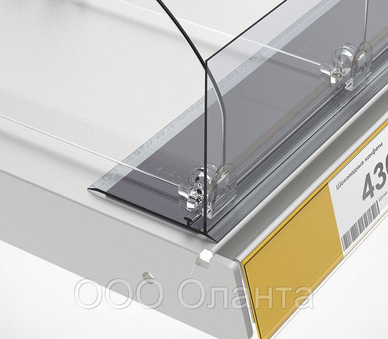 Ограничитель передний с Т-держателем на магнитной ленте (L=1250 мм/H=80 мм) L-RAIL80-TM арт.771002