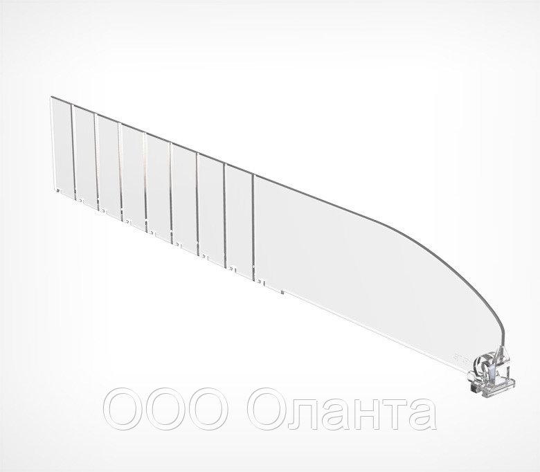 Пластиковый обламывающийся разделитель без ограничителя (L=185-385 мм/H=60 мм) DIV60-B арт.771060