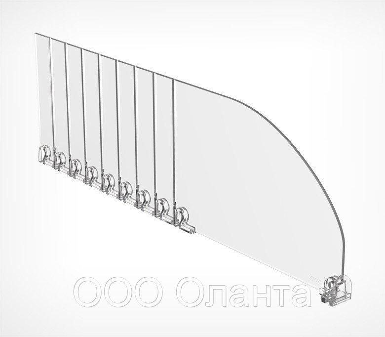 Пластиковый обламывающийся разделитель без ограничителя (L=185-385 мм/H=120 мм) DIV120-B арт.771120