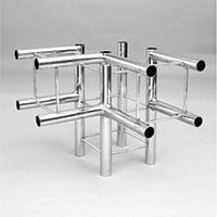 Соединитель четверной трехсторонний Tritix хром арт. TR-58