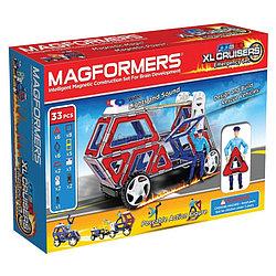 Magformers Магнитный конструктор XL Cruisers Набор Служба Спасения из 33 элементов