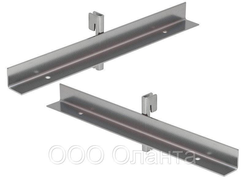 Полкодержатель внутренний (L-300 мм) Basis серебро арт. TP41