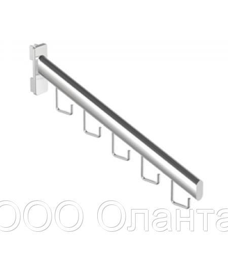 Кронштейн 5 крючков в стойку Basis серебро арт. TP67