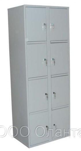 Шкаф металлический для сумок с усиленными замками 8 ячеек (800х400х1800) арт. ШСВ-8СУ