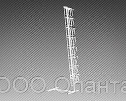 Стойка напольная с двумя наклонными полосами для прайс-листов на 16 карманов формат А4 арт. СБС2-16В