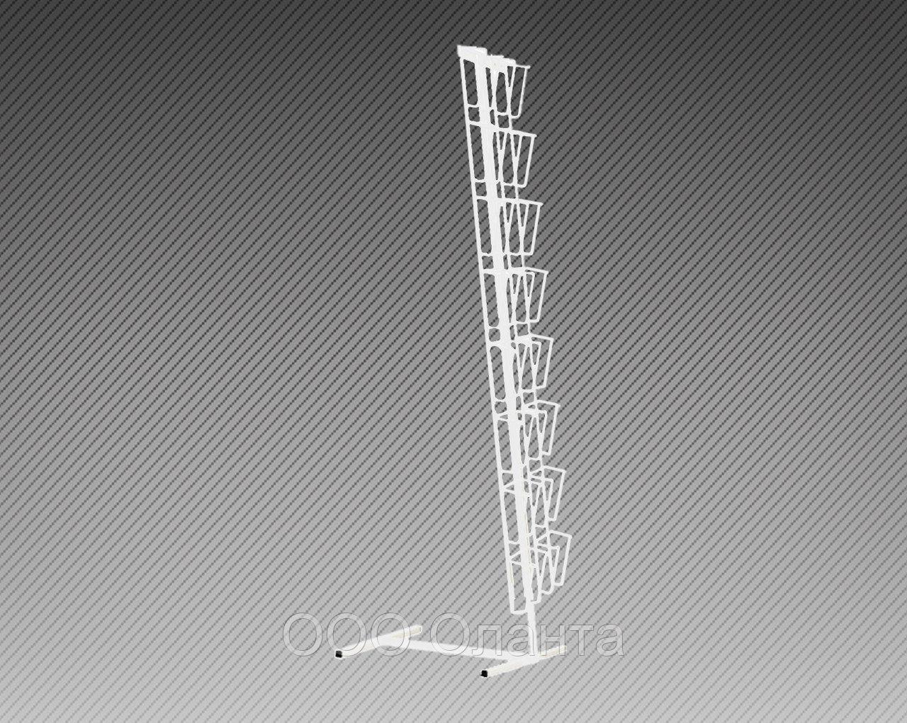 Стойка напольная с двумя наклонными полосами для прайс-листов на 20 карманов формат А4 арт. СБС2-20Г