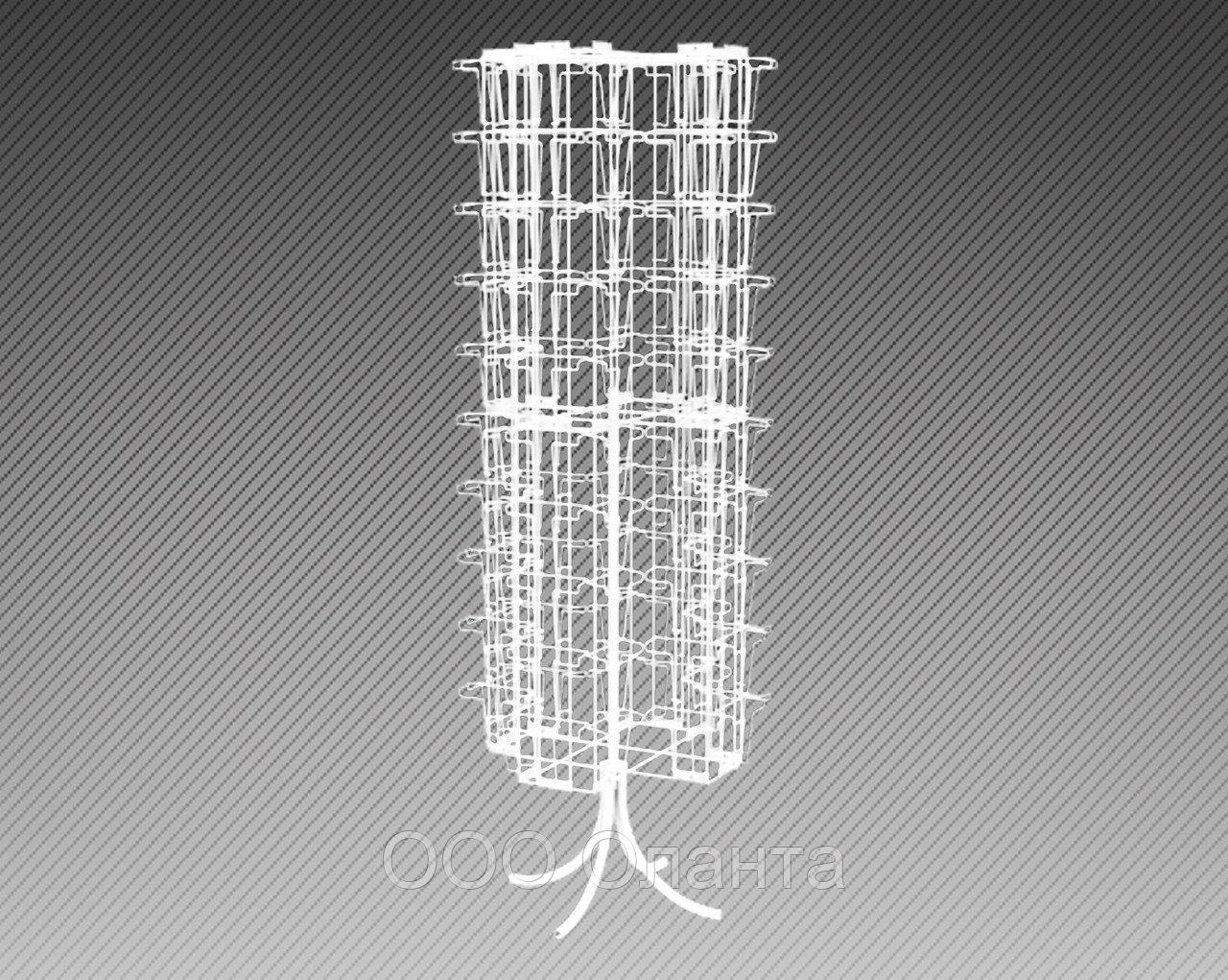 Стойка напольная шестисторонняя для полиграфии на 56 карманов формат А4+А5+А6 арт. СБКС1-56