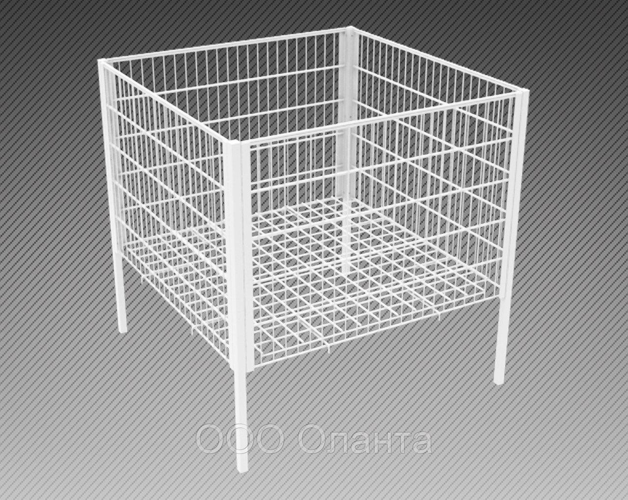 Стол для распродаж-накопитель c регулируемым дном усиленный (750х750х750 мм) крашенный арт. RS75/75/45