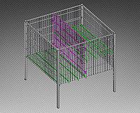 Стол для распродаж-накопитель c регулируемым дном усиленный (750х750х750 мм) крашенный арт. RRS75/75/45, фото 1