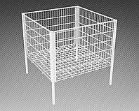 Стол для распродаж-накопитель c регулируемым дном усиленный (750х750х750 мм) крашенный арт. RS75/75/60, фото 1