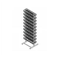 Стойка торговая для пакетированных семян двухсторонняя (600х500х1800 мм) 120 ячеек арт.СС120