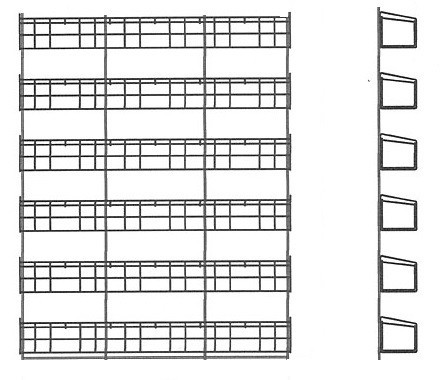 Стенд с полками для пакетированных семян (800х80х1200 мм) арт.ССН48