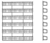 Стенд с полками для пакетированных семян (800х80х1200 мм) арт.ССН48, фото 1