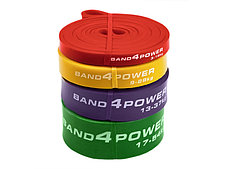 Резиновые петли для тренировок (комплект из 4х штук) (нагрузка 3 - 54 кг) BanD4Power, фото 3
