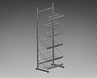 Прикассовая стойка на 3 корзины и 3 полки под шоколад (600х400х1800 мм) арт. СтПр47, фото 1