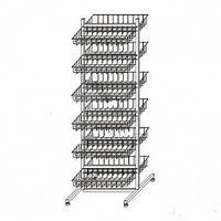 Прикассовая стойка на 12 корзин (800х800х1450 мм) арт. СтПр81
