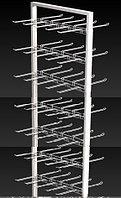 Прикассовая стойка на 12 дисплеев с крючками (400х800х1800 мм) арт. СтПр100