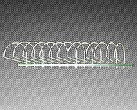 Экспозитор для шапок на 20 элементов (L-1200 мм)